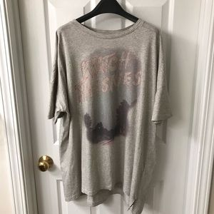 All saints oversize gray tee size M/L